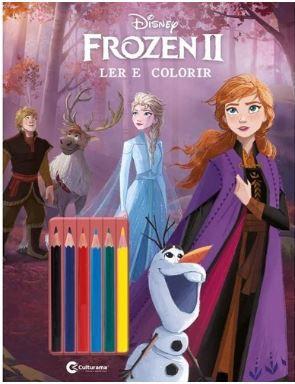 Frozen 2 ler E colorir com lapis