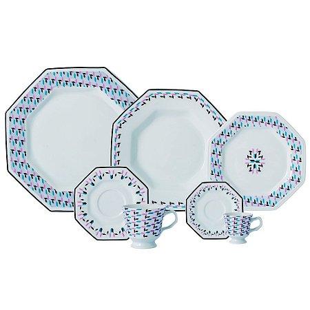 Aparelho de Jantar, Chá e Café 42 peças - Mantiqueira - Porcelana Schmidt