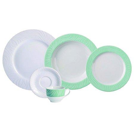 Aparelho de Jantar e Chá 20 peças - Green OAK - Porcelana Schmidt