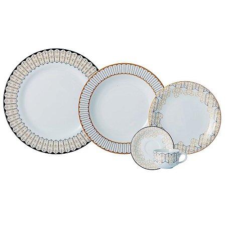 Aparelho de Jantar e Chá 20 peças - Araucária - Porcelana Schmidt