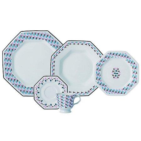 Aparelho de Jantar e Chá 30 peças - Mantiqueira - Porcelana Schmidt