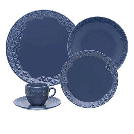 Aparelho de Jantar e Chá 30 peças - Mia Maré - Oxford Porcelanas