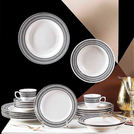 Aparelho de Jantar e Chá 30 peças - Flamingo Sense - Oxford Porcelanas