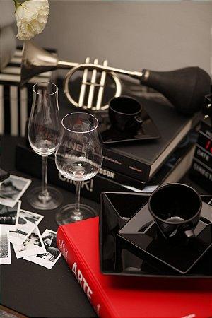 Aparelho de Jantar e Chá 30 peças - Quartier Black - Oxford Porcelanas