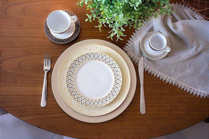 Aparelho de Jantar, Chá e Café 42 peças - Vanilla - Germer Porcelanas