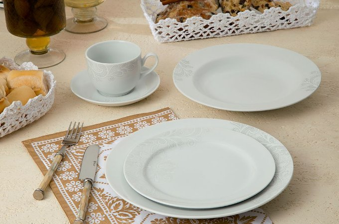Aparelho de Jantar e Chá 20 peças - Madri - Germer Porcelanas