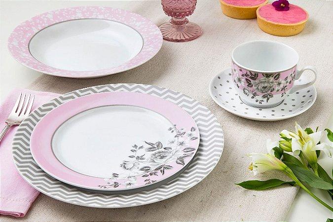 Aparelho de Jantar e Chá 20 peças - Paris - Germer Porcelanas