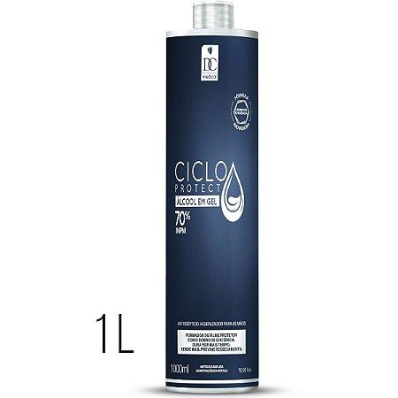 Álcool 70 Gel Antisséptico 70° 1L Dc Beauty