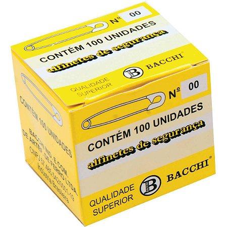 Alfinete Segurança N.00 Aço Niquelado Bacchi