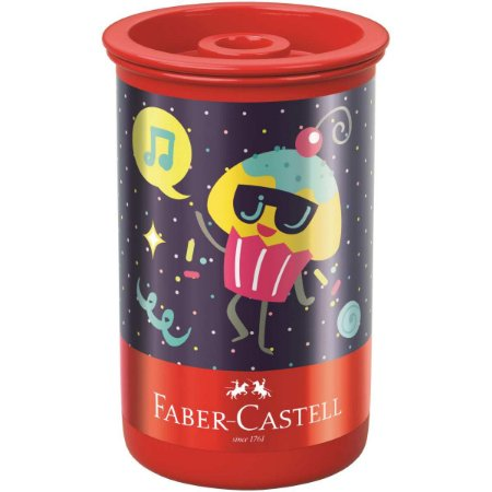 Apontador Com Depósito Decor. Candy Party Tubo Plast. Sort. Faber-Castell