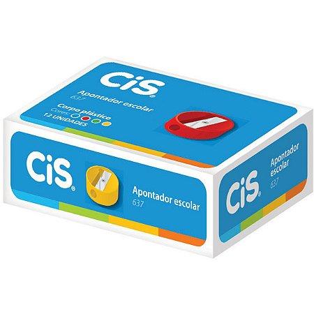 Apontador Sem Depósito Cis-637 Redondo Plástico Cores Sertic