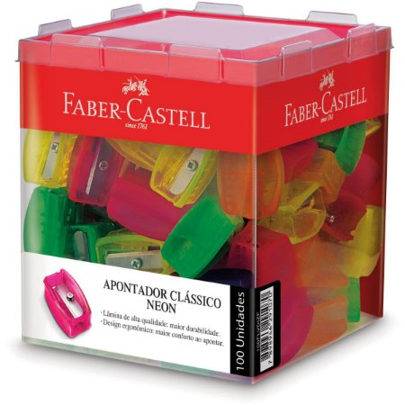 Apontador Sem Depósito Neon Simples Faber-Castell