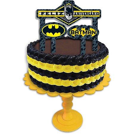Artigo Para Festa Topper P/bolo Batman Geek Festcolor