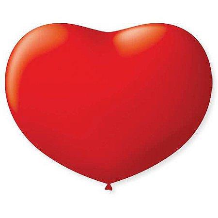 Balão Coração 6Pol Vermelho Quente São Roque