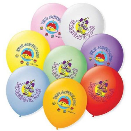 Balão Decorado N.070 Feliz Aniversário São Roque