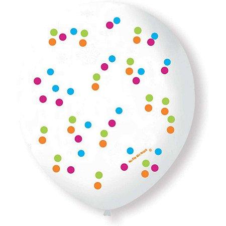 Balão Decorado N.090 Confetti São Roque