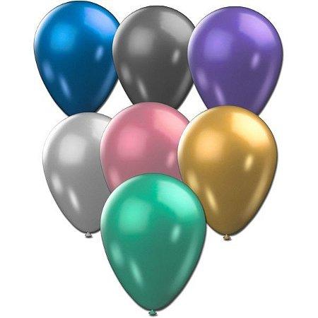 Balão Metalizado N.090 Cores Sortidas São Roque