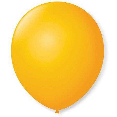 Balão Para Decoração Redondo N.09 Amarelo Sol São Roque
