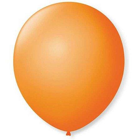 Balão Para Decoração Redondo N.09 Laranja Mandarim São Roque