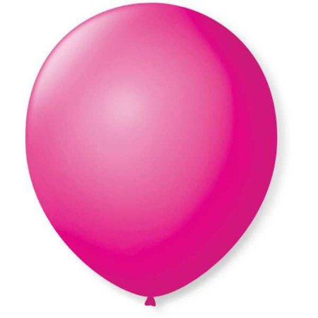 Balão Para Decoração Redondo N.09 Rosa Shock São Roque