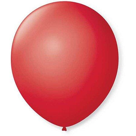Balão Para Decoração Redondo N.09 Vermelho Rubi São Roque