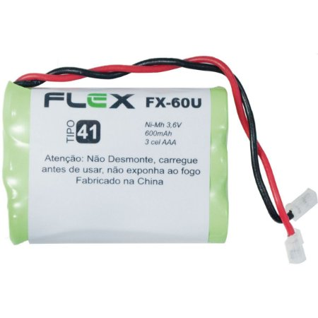 Bateria Telefone S/ Fio 3.6V 600Mah Plug Univer Flex