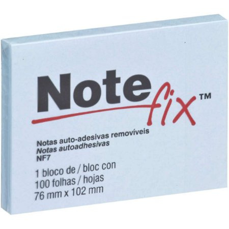 Bloco De Recado Autoadesivo Notefix 100F.76Mmx102Mm Azul 3M
