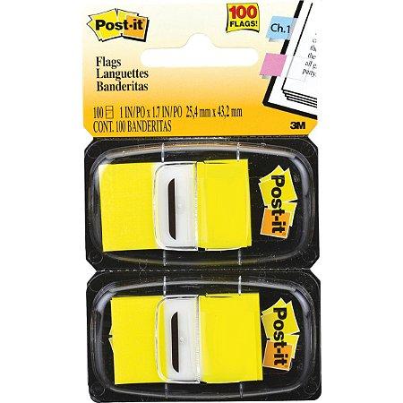 Bloco Marcador Pagina Adesivo Flags Amarelo 100Fls. 3M