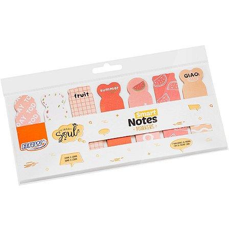 Bloco Marcador Pagina Adesivo Smart Notes Markers Frutas 20F Brw