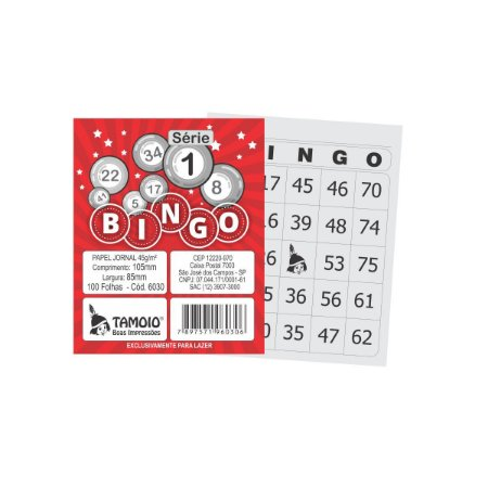 Bloco Para Bingo Jornal 105X85Mm 100Fls. S1-15 Tamoio