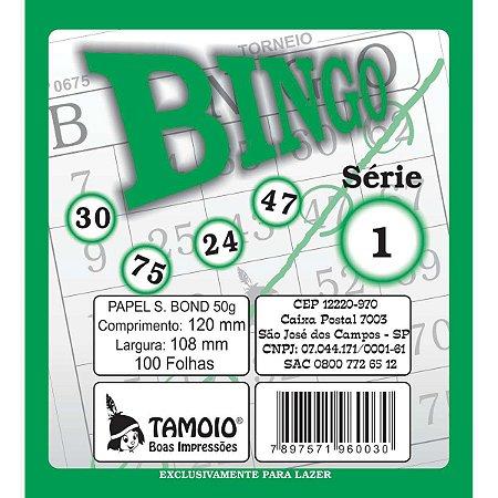 Bloco Para Bingo Verde 120X108Mm 100 Folhas Tamoio