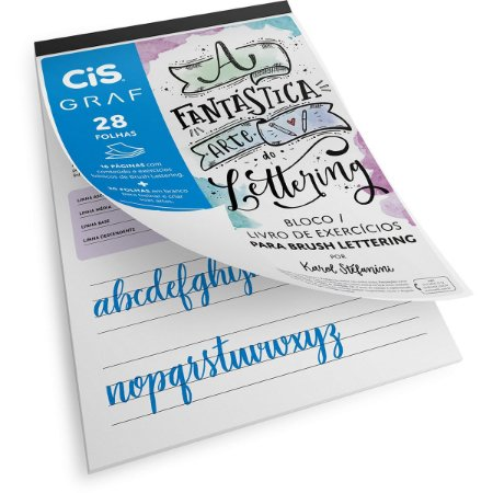 Bloco Para Educação Artística Cis Lettering A4 180G. 28Fl. Sertic
