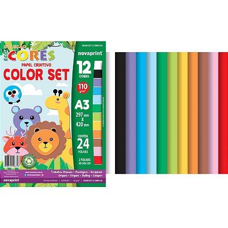 Bloco Para Educação Artística Color Set A3 12Cor.24Fl. Novaprint