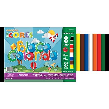 Bloco Para Educação Artística Colors 8Cores 32Fls.23,5X32,5C Novaprint