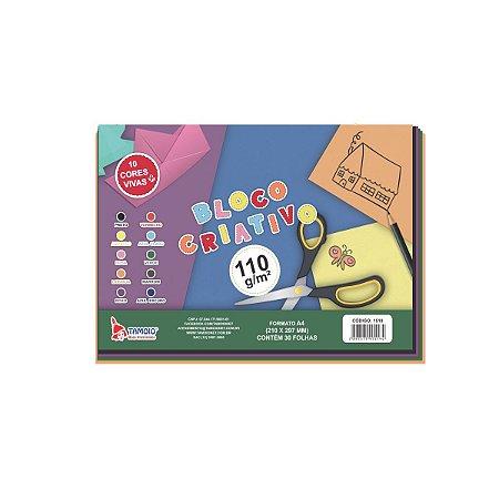 Bloco Para Educação Artística Criativo 10Cores A4 110G.30Fls Tamoio
