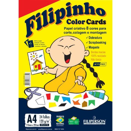 Bloco Para Educação Artística Filipinho C.card A4 120G.24Fls Filiperson