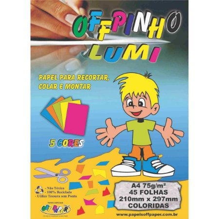 Bloco Para Educação Artística Offpinho Lumi A4 75G 45Fls. Off Paper