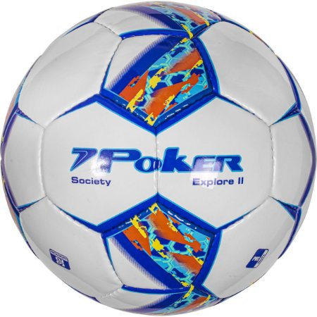 Bola De Futebol Society Explore Ii C/c Pvc Soft 32 Gom Poker