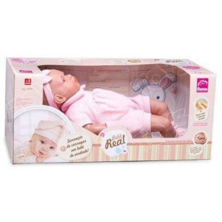 Boneca Bebê Real 52Cm. Roma
