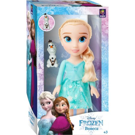 Boneca Frozen 2 Elsa Passeio Com Olaf Mimo
