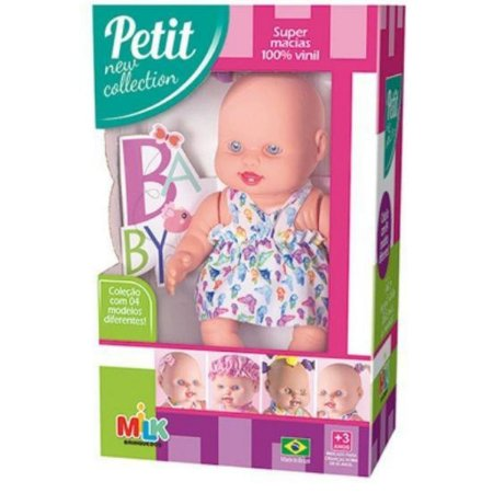Boneca Petit New Collection C/lacinho Milk