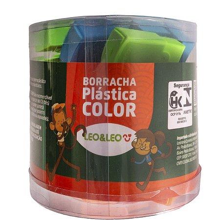 Borracha Colorida Plástica Colorida C/capa Leonora