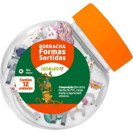 Borracha Decorada 4 Formatos Sortidos Leonora
