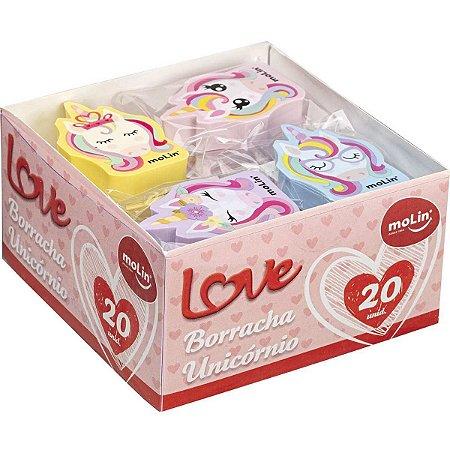 Borracha Decorada Love Unicornio Sortidas Molin
