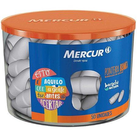 Borracha Ponteira Branca 50 P/Lápis Mercur