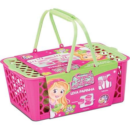 Brincando De Casinha Cesta Leva Papinha 28 Pecas Cardoso Toys