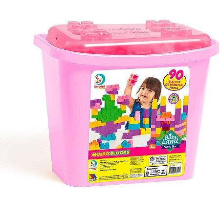 Brinquedo Educativo Blocks Box 90Pcs Menina Cardoso Toys