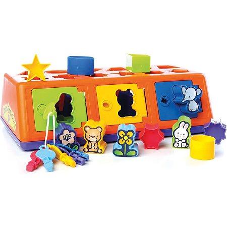 Brinquedo Educativo Caixa-Encaixa A Partir De 1Ano Estrela