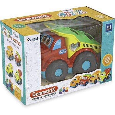 Brinquedo Educativo Carrinho Geometrix C/blocos Homeplay