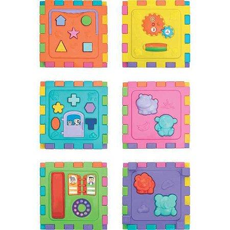 Brinquedo Educativo Cubo Didático Grande 2 Em 1 Merco Toys